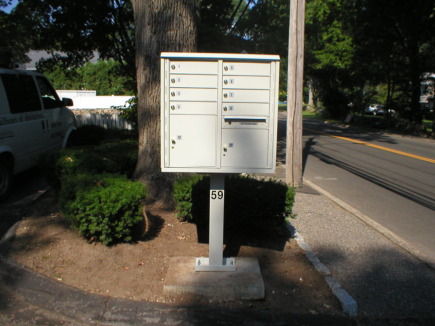 outdoor commercial mailboxes type i cbu 8 tenants